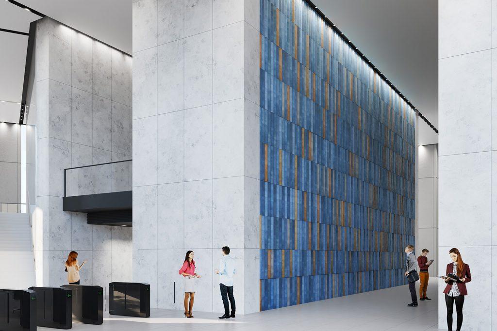 Mozaika w lobby Varso Tower