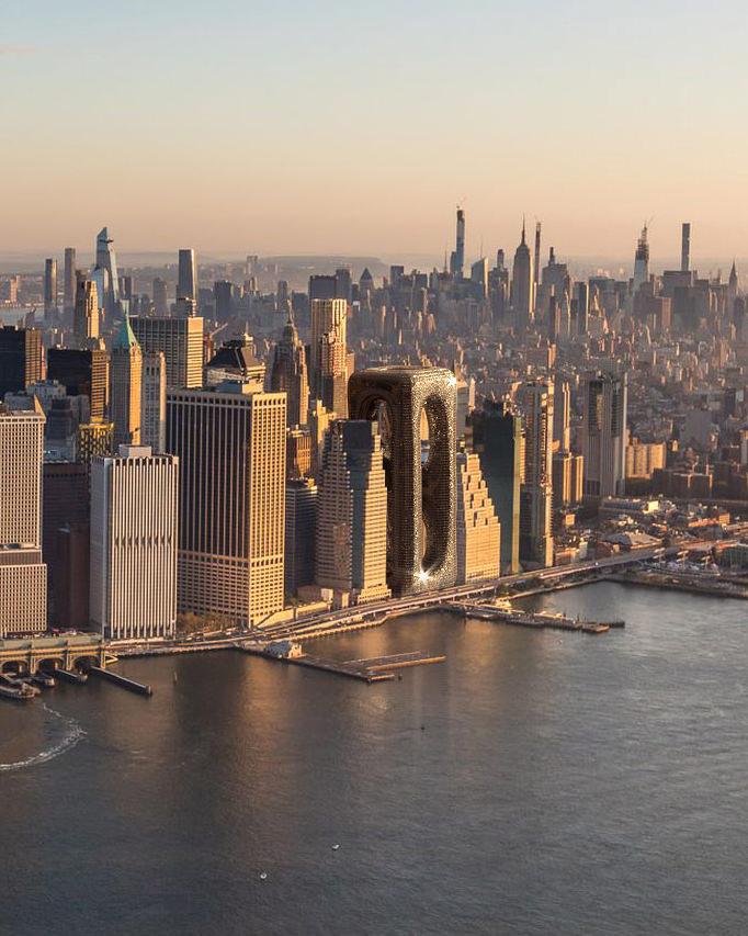 Nowy Jork z wieżowcem Sarcostyle Tower