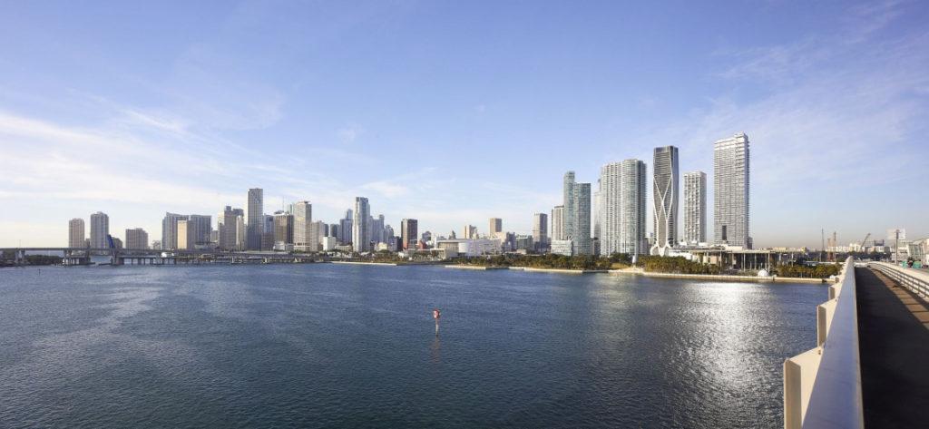 Skyline Miami z One Thousand Museum