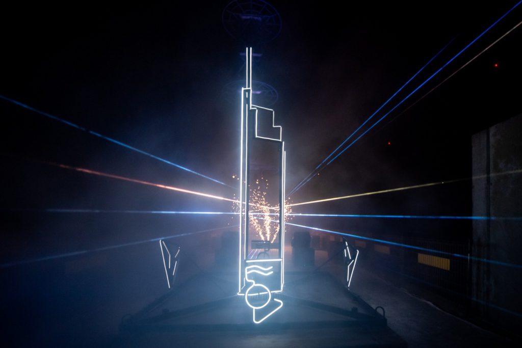Symboliczna wiecha na Varso Tower