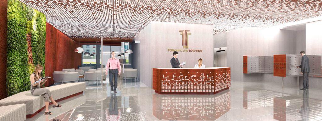 Lobby w Towarowa Towers