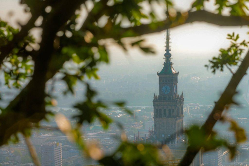 Widok na PKiN z Varso