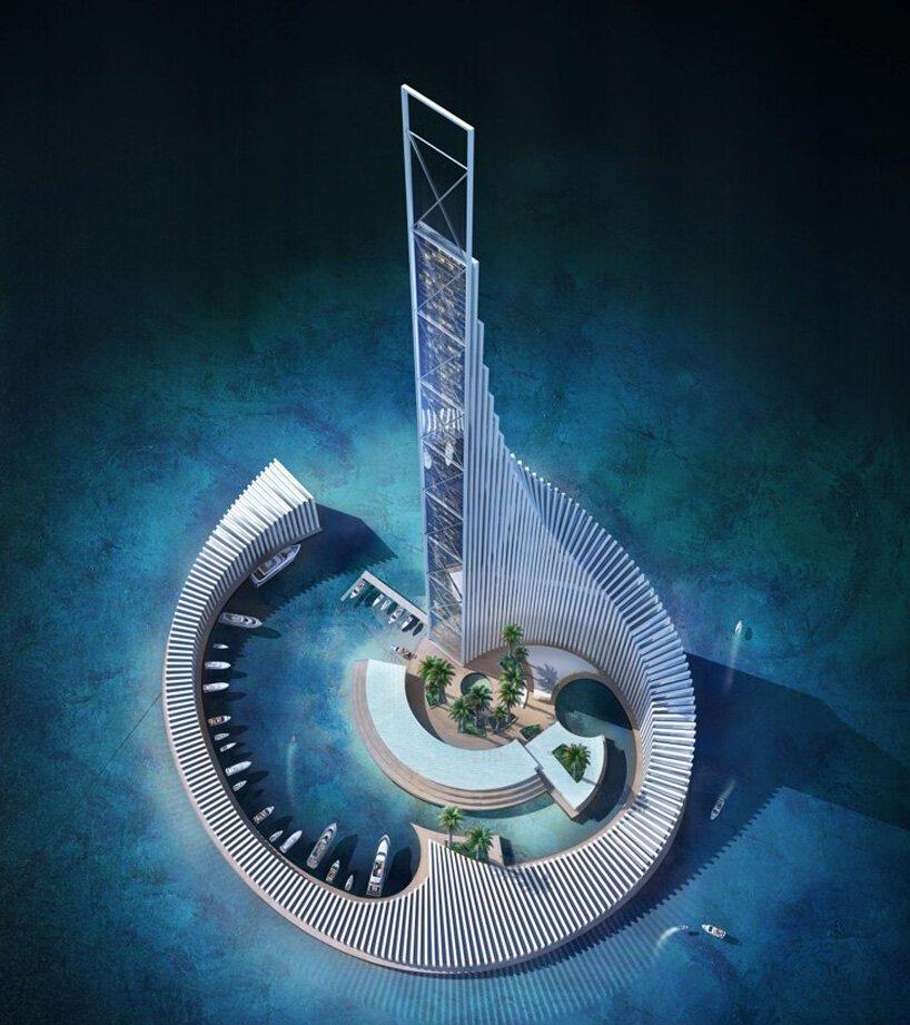 Widok na wieżowiec z góry